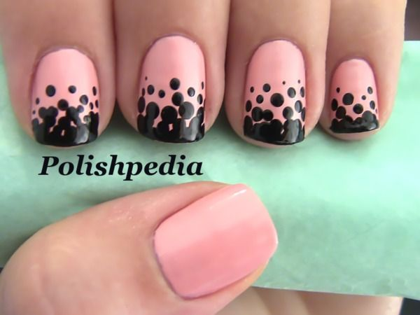 Love how these nails turned out!  They are super easy to do.  Watch my video tutorial @ http://www.polishpedia.com/gradient-polka-dot-nails.html
