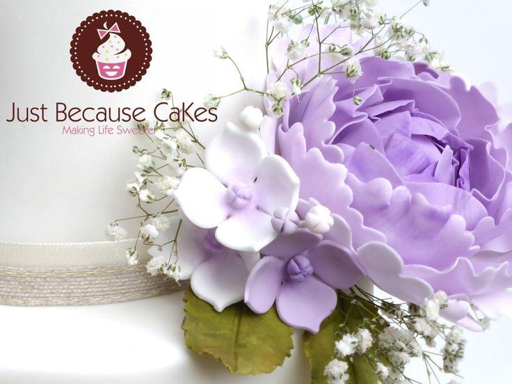 Sugar Peony Wedding Cake Flowers