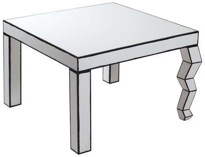 Scopri Tavolino The Trip Cartoon -/ 70 x 70 cm x H 46 cm, Nero & Bianco di Seletti, Made In Design Italia