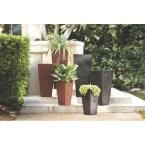 Home Decorators Collection Ella 14 in. Square Black Resin Planter 0508210210 at The Home Depot - Mobile