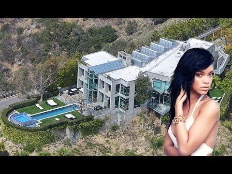 Rihanna's House In Hollywood Hills - 2016 [Inside & Outside ] - YouTube