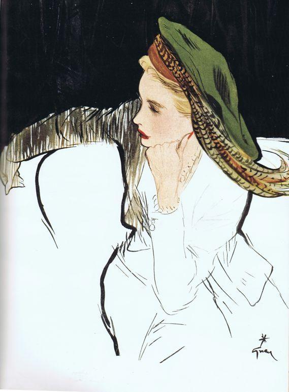Illustration by René Gruau. by jeanne