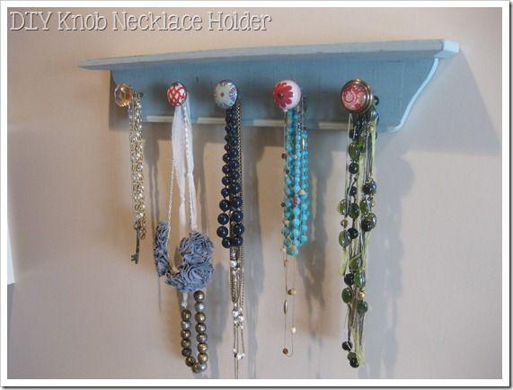 DIY Knob Necklace Holder!