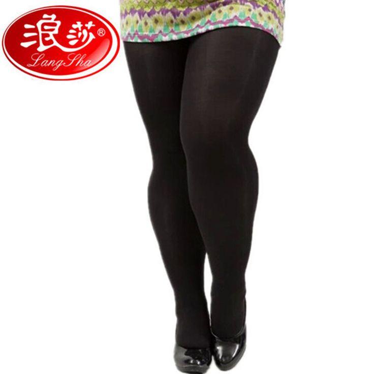 Langsha Stoking Plus Ukuran Wanita Tights Celana Slim Celana Ketat Sutra Gadis Ukuran Besar Pantyhose 120D Stoking Seksi 1 Pair Gratis pengiriman