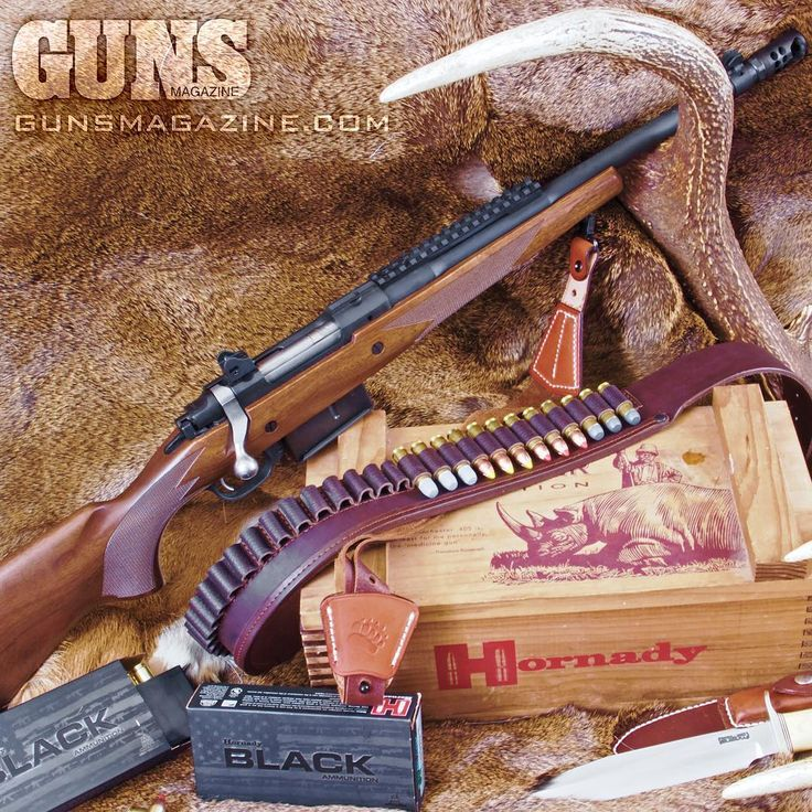 Compact thumper.  Ruger's .450 Bushmaster Gunsite Scout is a handy, powerful hunting tool.  More in the March 2018 issue of GUNS Magazine.  #thumper #righttobeararms #2a #ruger #igmilitia #pewpewlife #merica #madeinamerica