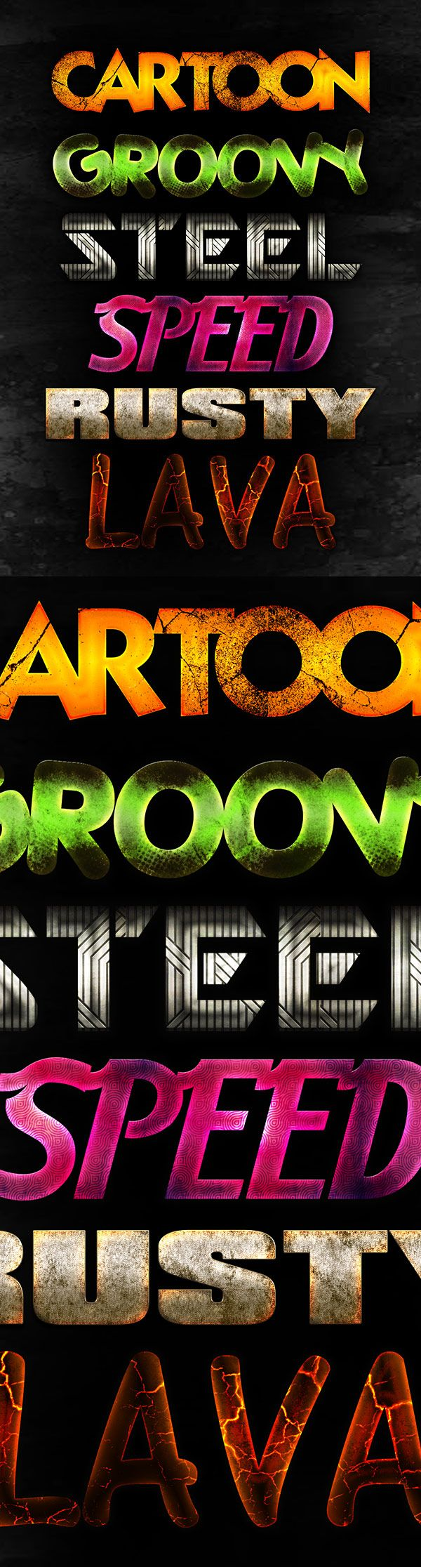 Free designs - Free PSD text effects
