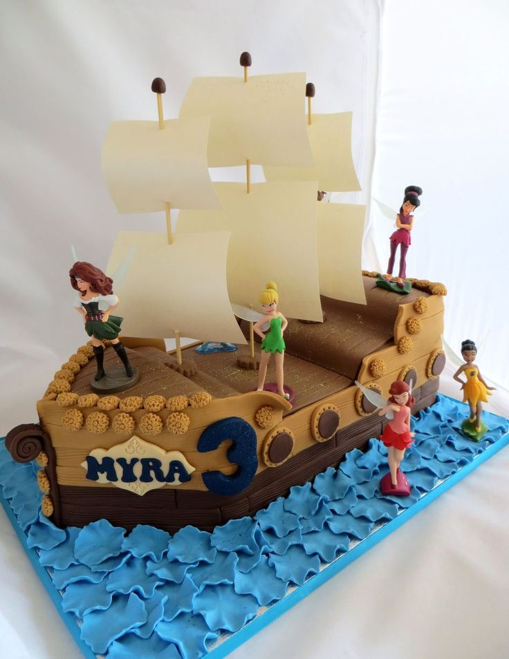 Tinkerbell and the Pirate Fairy cake by Caroline Shaw, Huddersfield