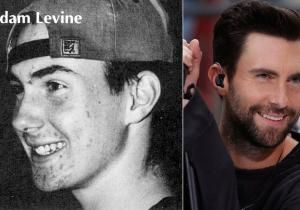 Adam Levine - Adam Levine's yearbook photo revealed: Hollywood stars before they were famous