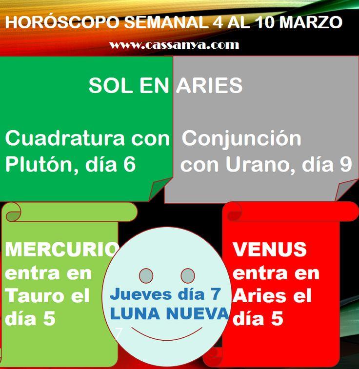 HORÓSCOPO SEMANAL El horóscopo de esta semana está marcado por los dos intensos aspectos del Sol, con Plutón y Urano, además de las entradas de Mercurio en Tauro y Venus en Aries. De hecho, esta es la semana más importante de todo el mes y una de las más significativas de todo el año.  El Sol llega