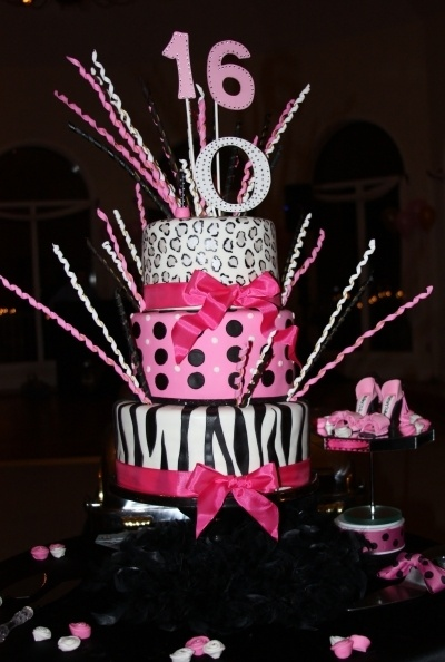 Sweet 16 party cake: Sweet 16 Cakes, Sweet 16 Parties, Cakes Ideas, Birthday Parties, Parties Ideas, Parties Cakes, Sweet Sixteen, 13Th Birthday, Birthday Cakes