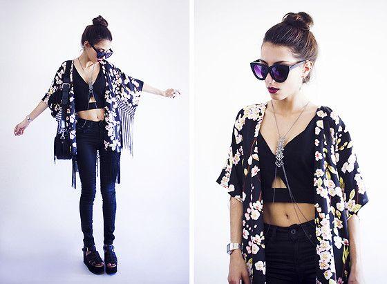 Little Mistress Kimono, Frontrowshop Top, Lamoda Platforms, Zero Uv Sunnies