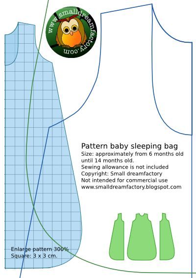 small dreamfactory : free sewing patterns babyclothing and softies: Free sewing pattern baby sleeping bag