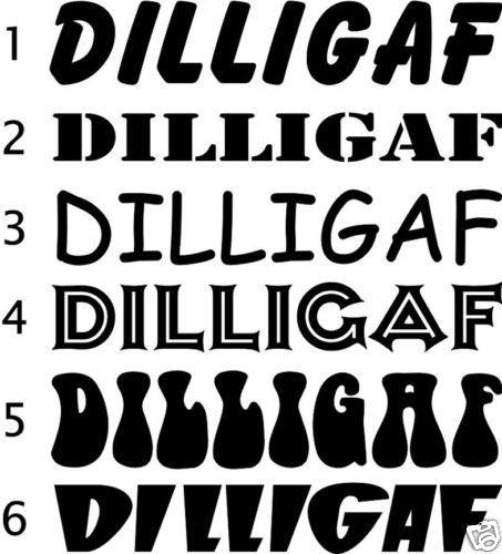 DILLIGAF 50CM Sticker