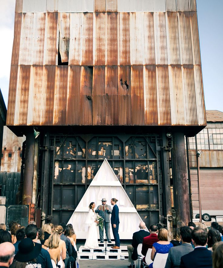 Industrial San Francisco Wedding | Check out pics of this gorgeous industrial San Francisco wedding. #refinery29 http://www.refinery29.com/industrial-san-francisco-wedding