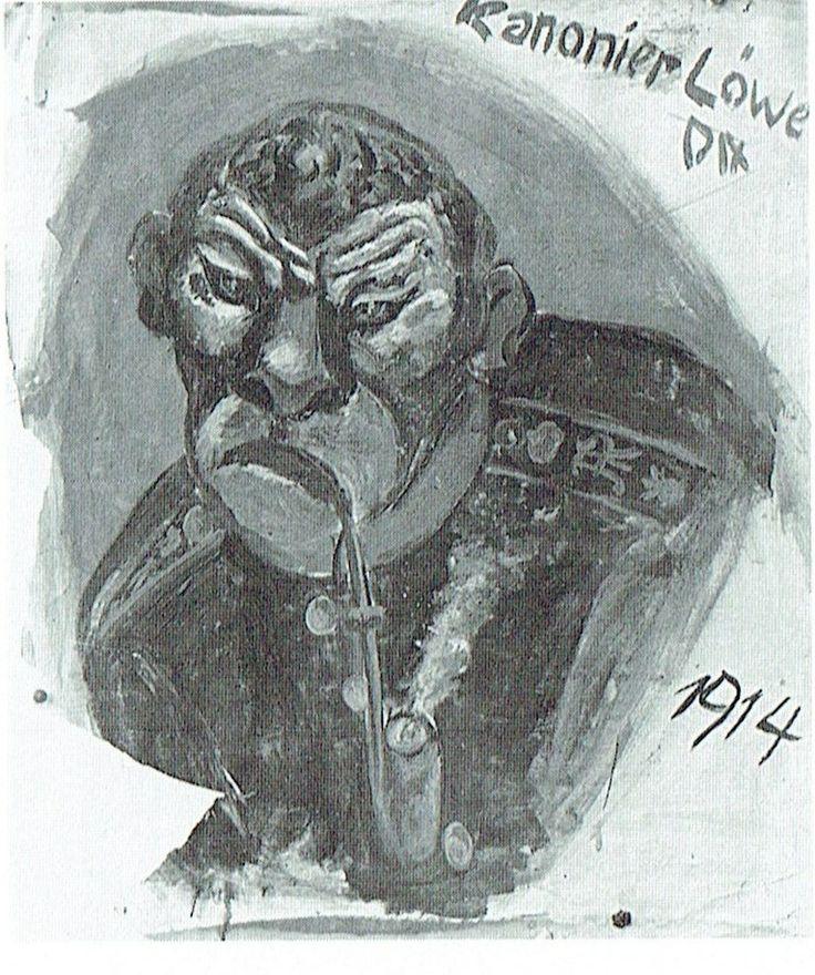 Otto Dix - Cannoniere Leone, 1914