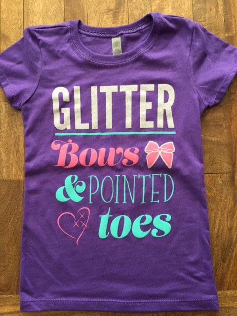 Cheer Love Glitter Bows and Pointed Toes T  C Cheer Love Apparel