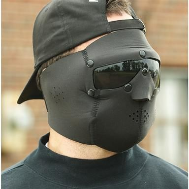 Swiss Eye Military-Style Neoprene Face Mask with Goggles