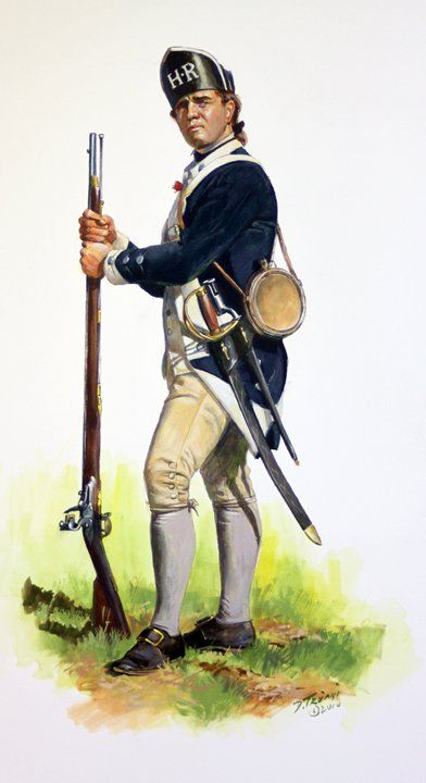 Private of Hartley's Additional Regiment 1777, by Don Troiani. (www.dontroiani.com)