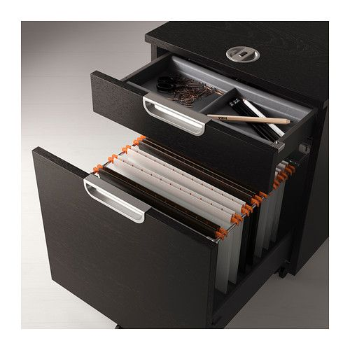 GALANT Drawer Unit/drop File Storage, Black Brown
