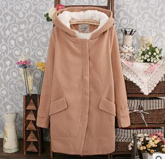 New 2015 high quality warm fashion long slim thick women winter jacket fashion casual long woolen coat