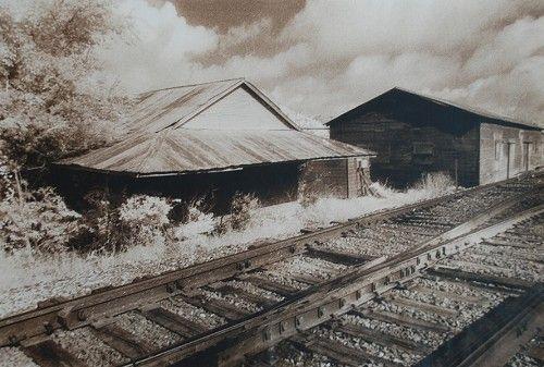 """Tracks, Panola County, TX"" by Tommy Lavergne, silver gelatin print, 2000, 16""x20"" www.thornwoodgallery.com"