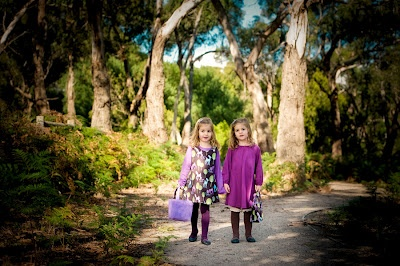purple swing dress, deer pinny, tights and socks | all available from missy melly