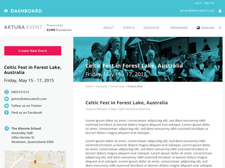 Event Detail Page Concept by Oka Kuswandi