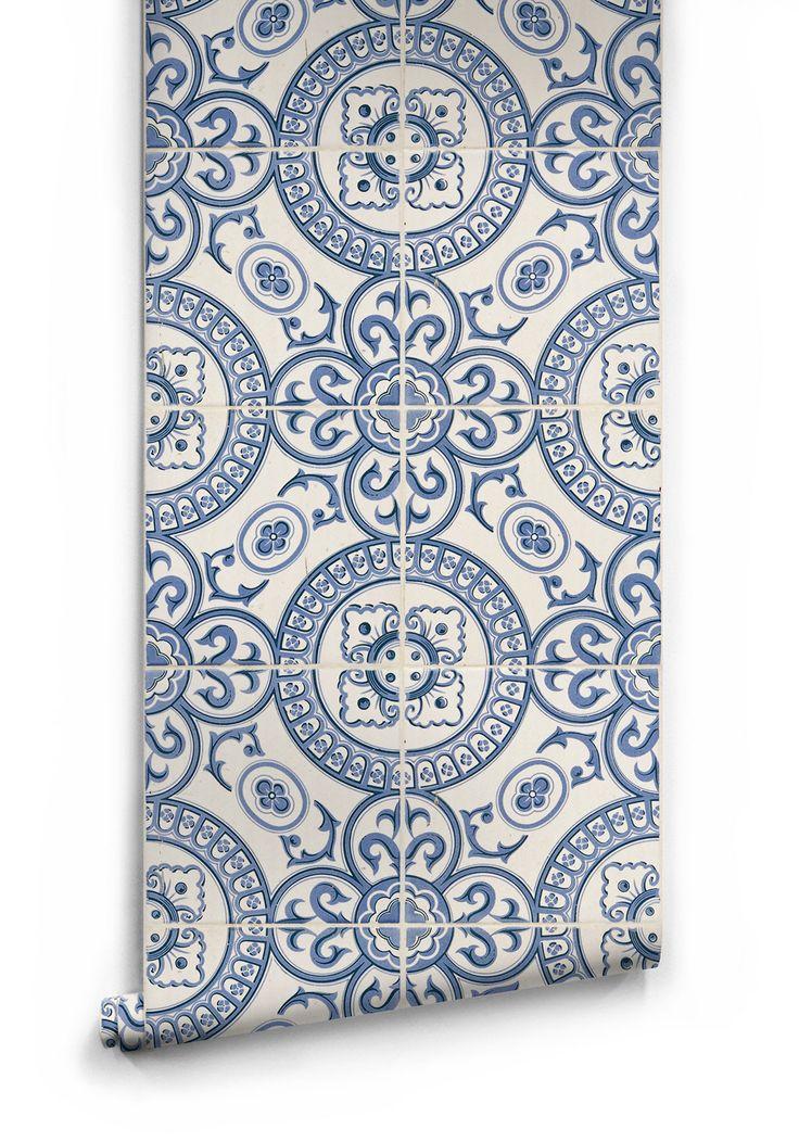 Heritage Tiles Wallpaper design by Milton & King