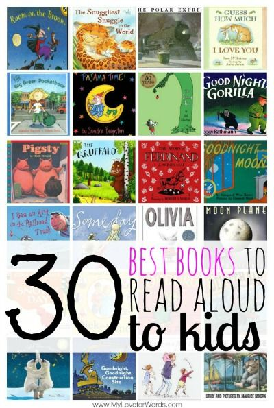 Great list of picture books to read to your littles.