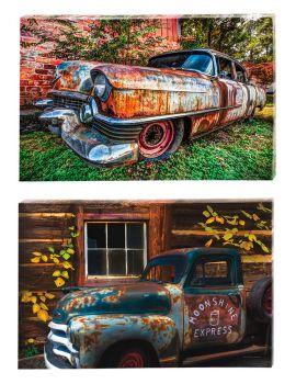 Rustic Truck in/outdoor canvas  36 x 24 HOT SELLER!