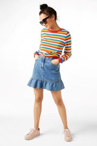 Pleaded mini skirt Monki - størrelse 38, 250 kr