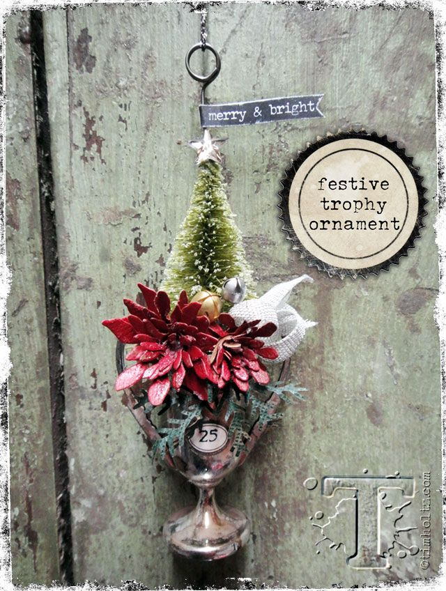 i love the christmas craft season!  today i want to share a festive trophy cup ornament which would also make a great party favor or place setting idea.  this one is all in the details so get ready...