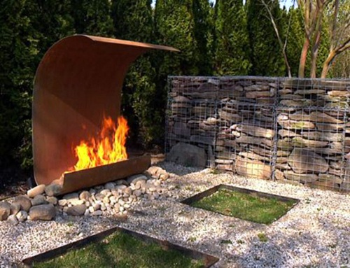 How Freaking Amazing Is This Outdoor Fireplace Absolutely Stunning As Far As I M