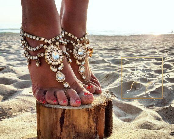 Hoi! Ik heb een geweldige listing op Etsy gevonden: https://www.etsy.com/nl/listing/253301211/beach-wedding-blootsvoets-sandalen