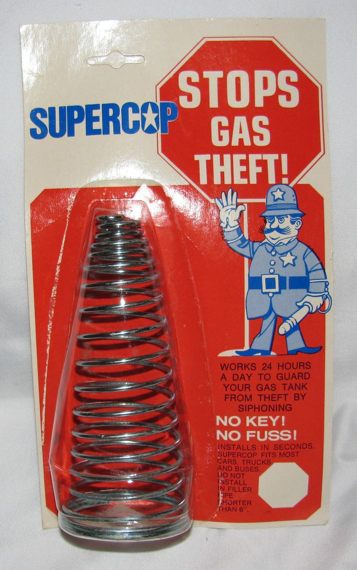VINTAGE SUPER COP Spring STOPS GAS THEFT Anti Siphon Fits most cars 1964-74 NOS FOR SALE • $7.50 • See Photos! Money Back Guarantee. VINTAGE SUPER COP Spring STOPS GAS THEFT Anti Siphon Fits most cars 1964-74 NOS Brand New, New Old Stock, SUPERCOP anti siphoning guard for older cars.Should fit cars 1964-1974 and 262657117113