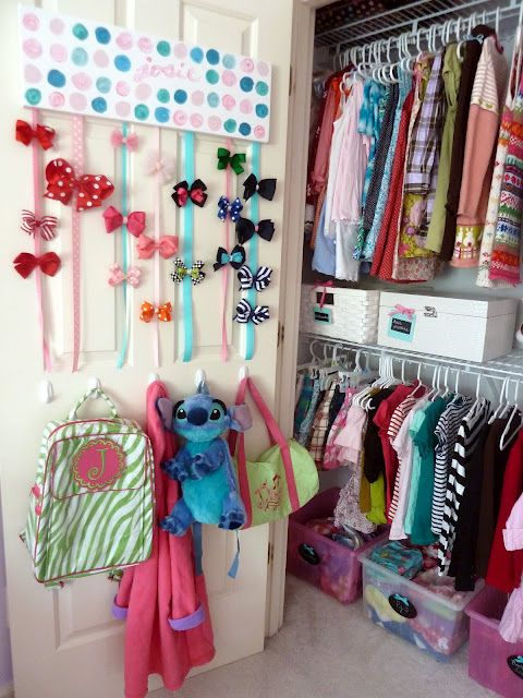 Great idea for girls who share a closet                                                                                                                                                      More