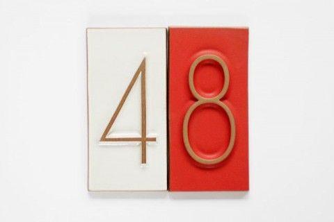 heath ceramics created these enviable neutra house numbers via swiss-miss.com
