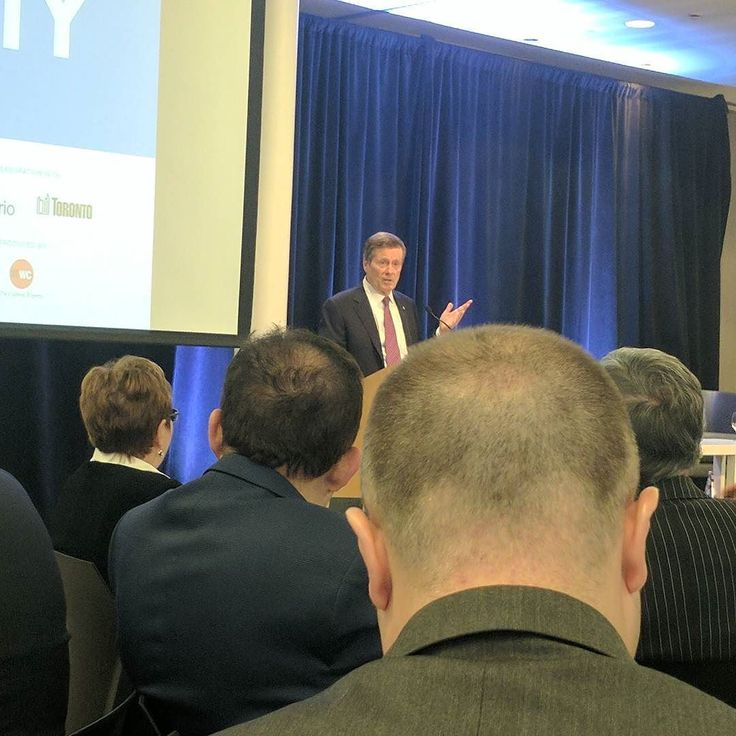 Mayor John Tory at #TechnicityTO speaking about how #technology will take the city to the next level of progress.