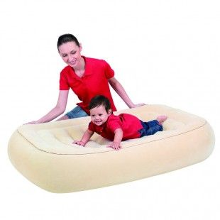 Matelas gonflable sécurisé pour enfants de 1 à 3 ans - Bestway 114 x 76 x 22 cm