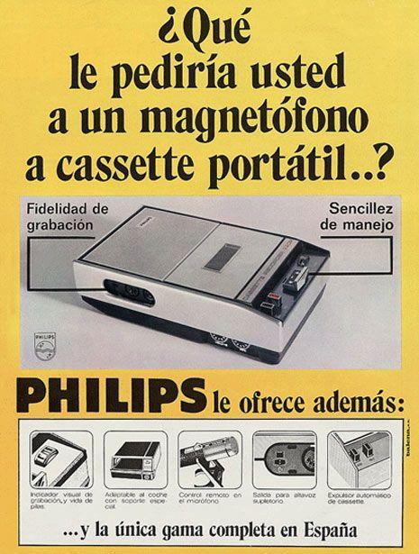 Lo ultimo de lo ultimo Magnetófono a cassette y encima portátil Philips :)