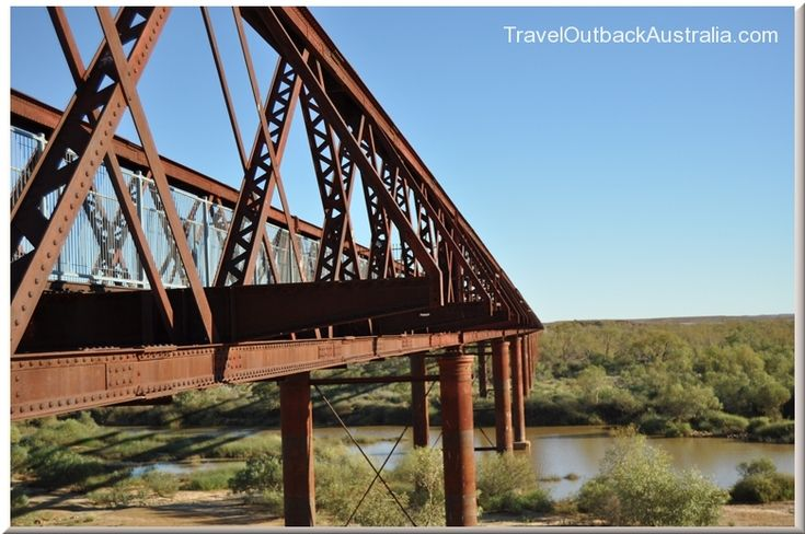 Algebuckina Bridge - the longest rail bridge in South Australia is on the Oodnadatta Track