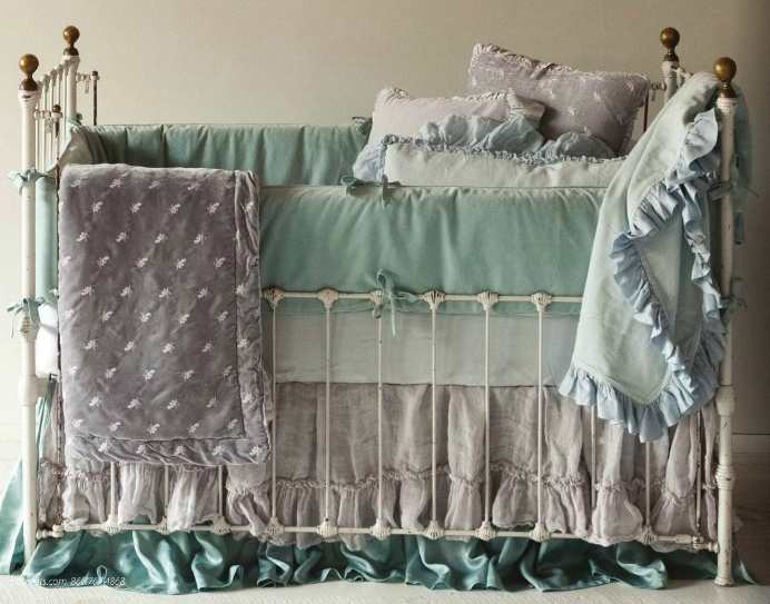 Two Bed Skirts Wrought Iron Crib Baby Decor Baby Boy