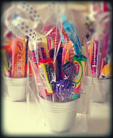 Mini Pails filled with #Retro #Sweets #Wedding Favours #Manchester #candy #sweetcart #thankyou #cute #sweetngroovystuff  Make lovely Thank yous, alternative party bags for your guests