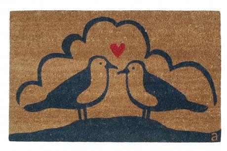 Seagull Doormat by Angela Adams  Mine?: 22X36 Navy, Birds Doors, Beaches House, Birds Doormats, Angela Adam, Front Doors, Doors Mats, Doormats 22X36, Seagull Doormats