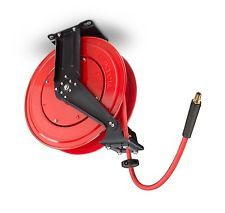 Air Hose Reel 50 ft Compressor Compressed For Retractable Auto Rewind TEKTON
