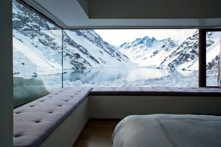 bedroom view of the mountains, anyone?: Contemporary Home, Mountain Bedrooms, Mountain View, Chile, The View, Amazing View, Naps Time, Bedrooms View, Window Seats