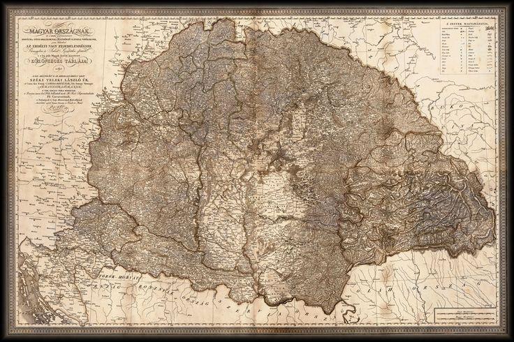 Magyarország térkép 1820