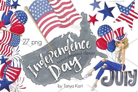 Independence Day Design Kit by Tanya Kart on @creativemarket