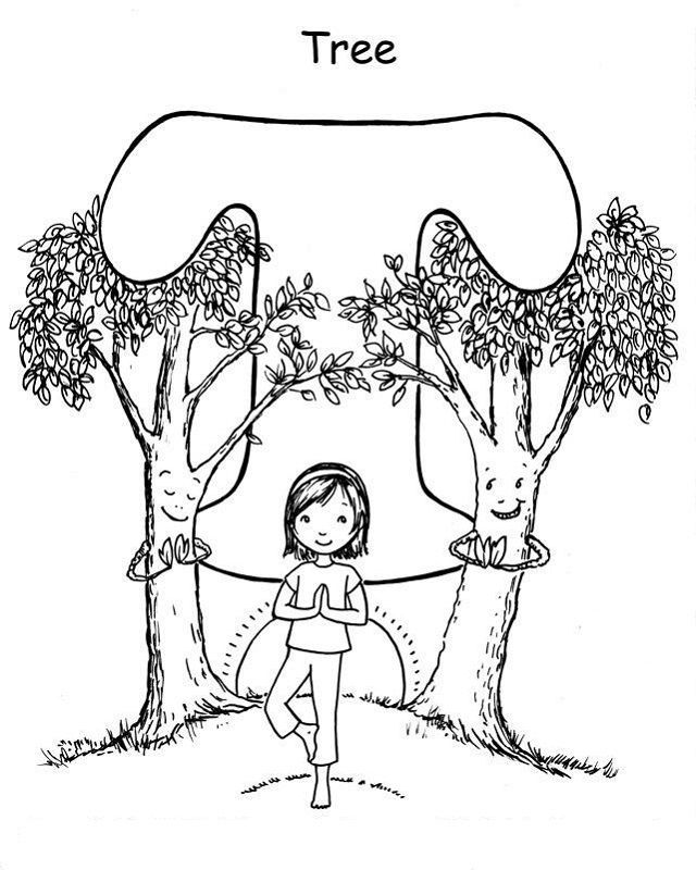 Yoga Coloring Pages Don T Underestimate Drawing And Coloring Activities For Early Age For Some Parents Yoga For Kids Kids Yoga Poses Printables Free Kids