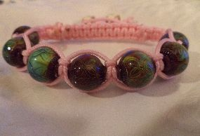 Color Change Macrame Mood Bracelet  with Pink Chinese Knotting Cord (MMBRR)